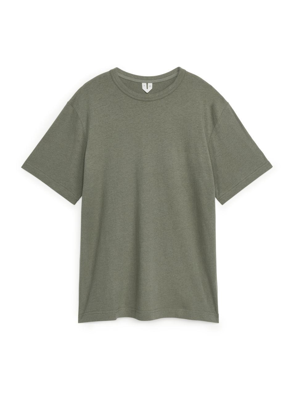 Cotton Linen T-Shirt - Grey