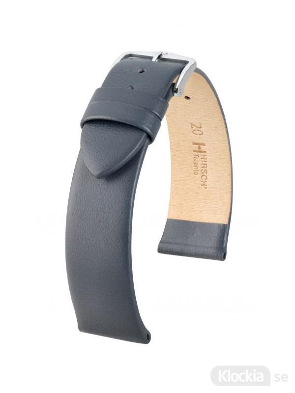 Klockarmband Hirsch Toronto 12mm Medium Grå/Silver 03702130-2-12