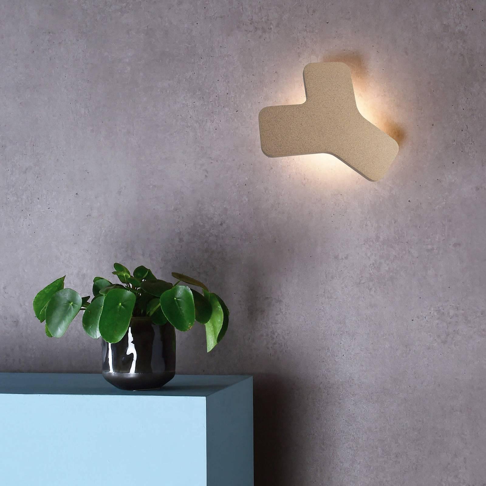 LED-seinävalaisin Ypsilon, beige