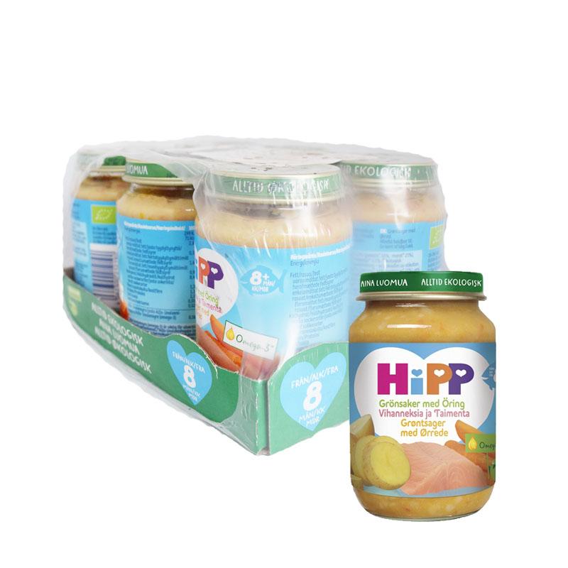 Hel Låda Barnmat Grönsaker & Öring 6 x 190g - 72% rabatt