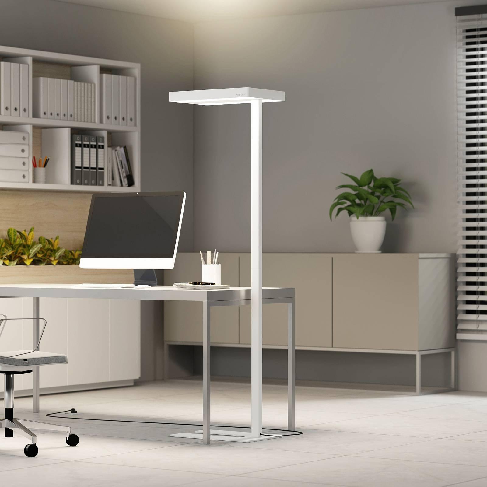 Arcchio Kalem gulvlampe til kontor, rund, hvit