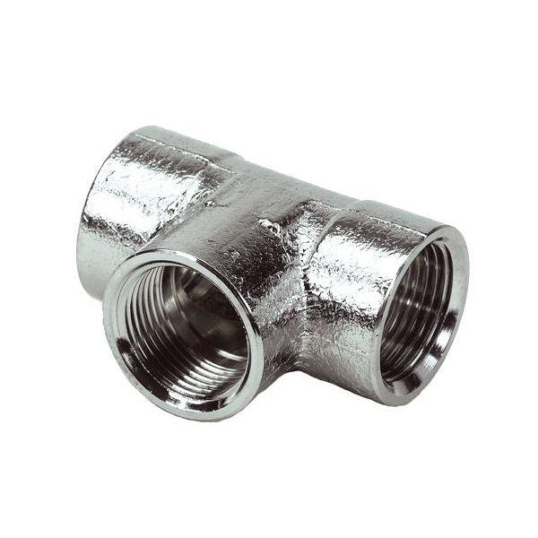 Ezze 3006087002 T-rør metall, inv gjenge G10, forniklet