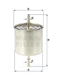 Polttoainesuodatin MANN-FILTER WK 8046