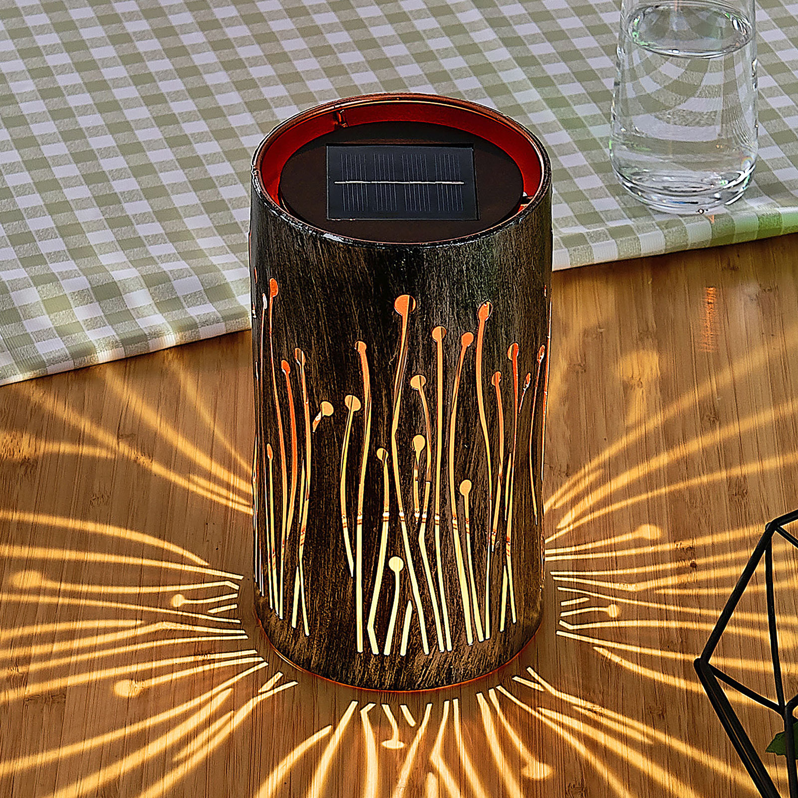 Aurinkok. LED-lamppu Tamol, sylinteri, kuvio