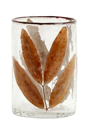 Leaves Vas/Ljuslykta Glas Small