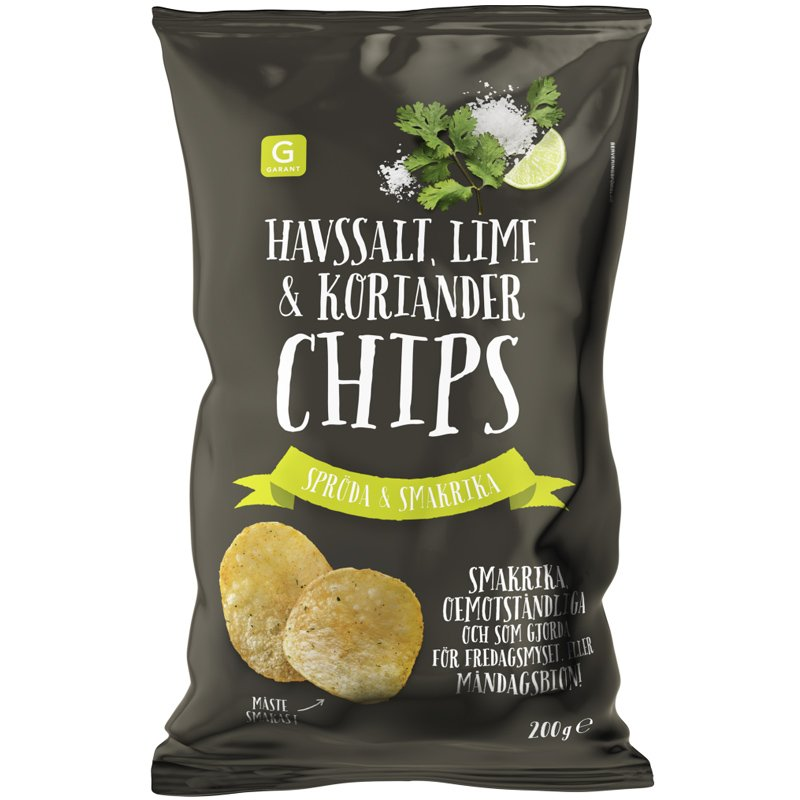 Chips Havssalt, Lime & Koriander 200g - 72% rabatt