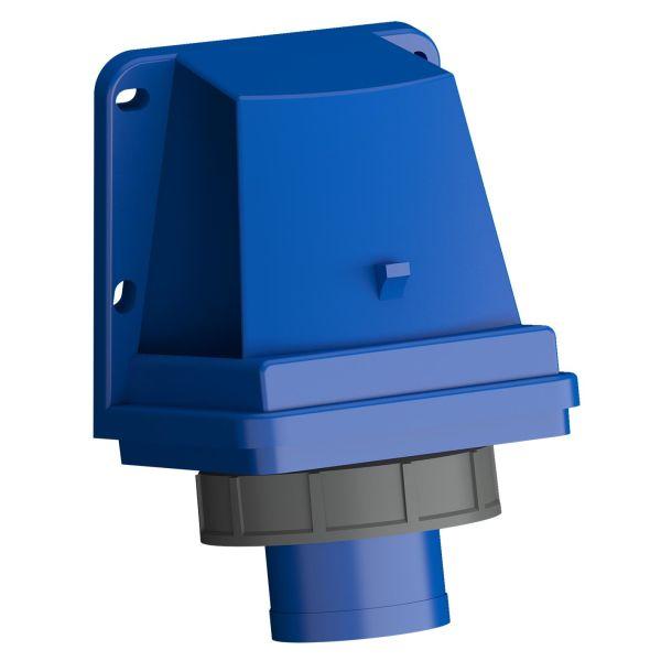 ABB 2CMA102363R1000 Vegginntak hurtigtilkoblet, vibrasjonsbestandig Blå, 32 A, 3-polet, IP67