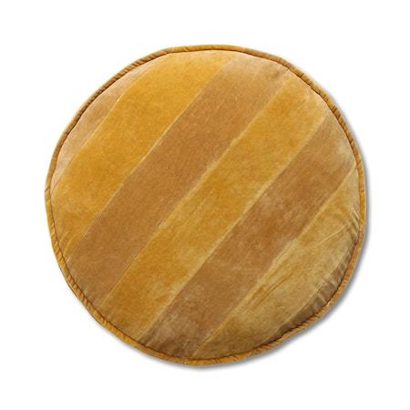 Striped Velvet Stolsdyna Rund ochre/Gold 60 cm