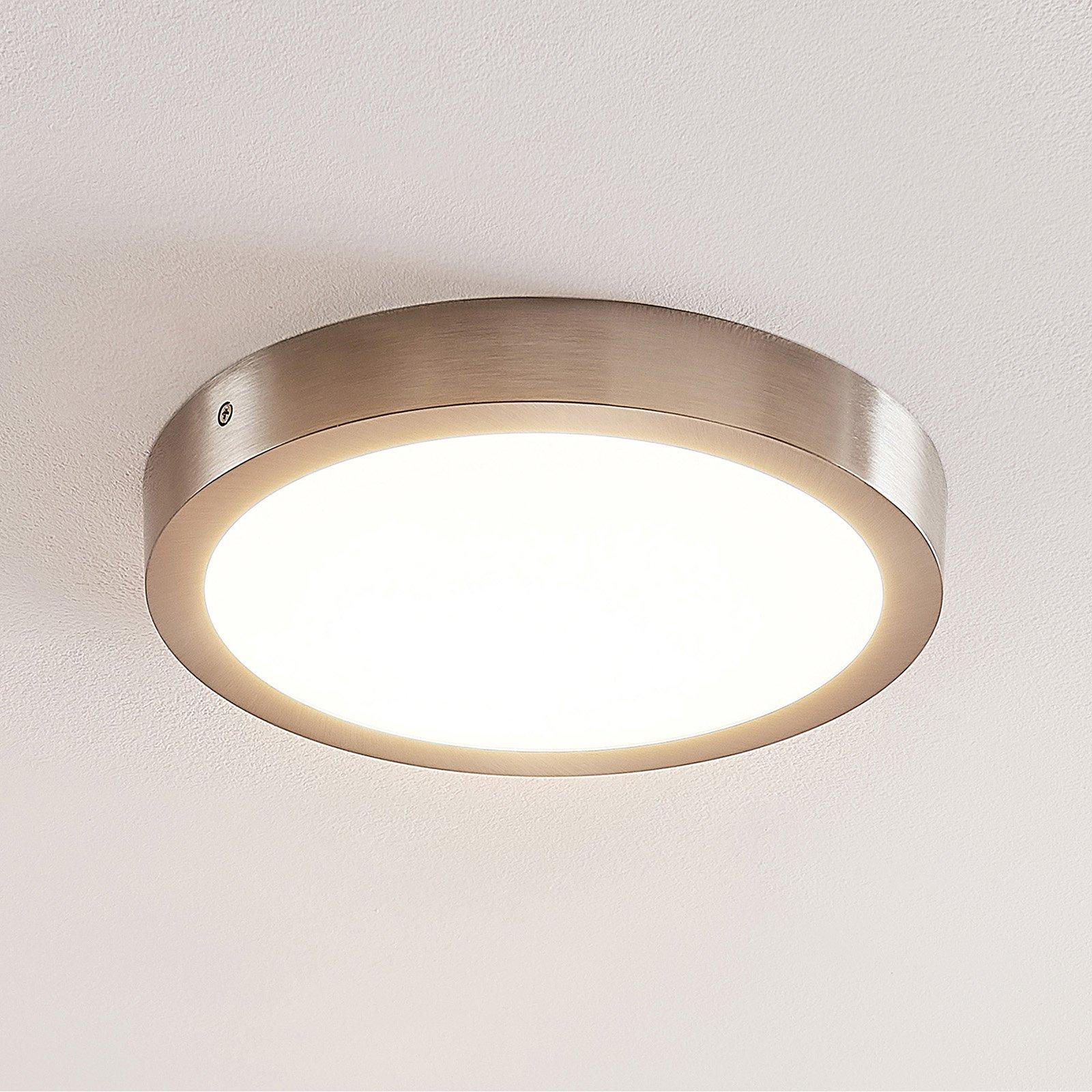 ELC Merina LED-taklampe nikkel, 30 cm