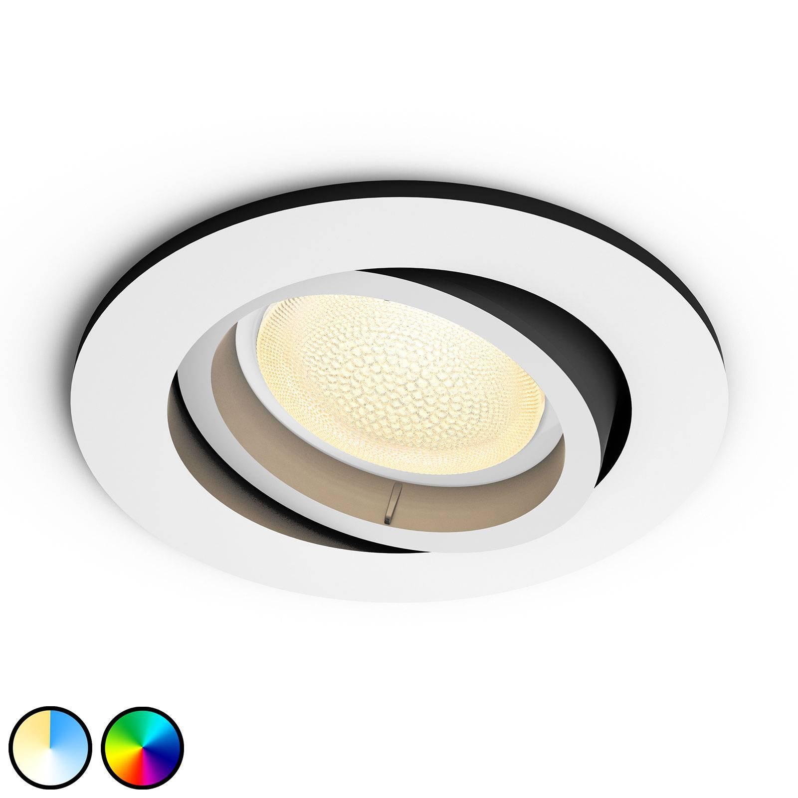 Philips Hue Centura LED-downlight rund, hvit