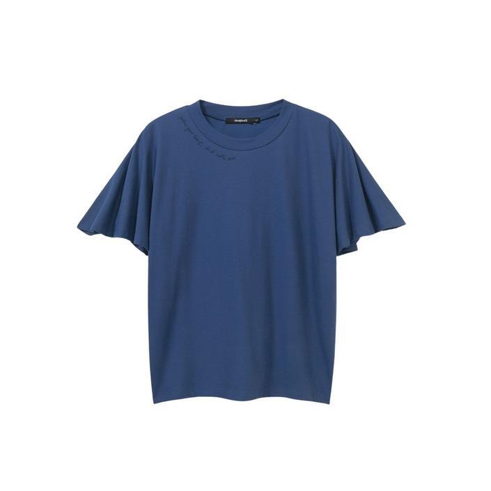 Desigual Women's T-Shirt Blue 263311 - blue S
