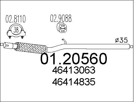 Pakoputki MTS 01.20560