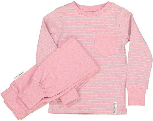 Geggamoja Pyjamas Classic, Pink Daisy Stripe 74-80