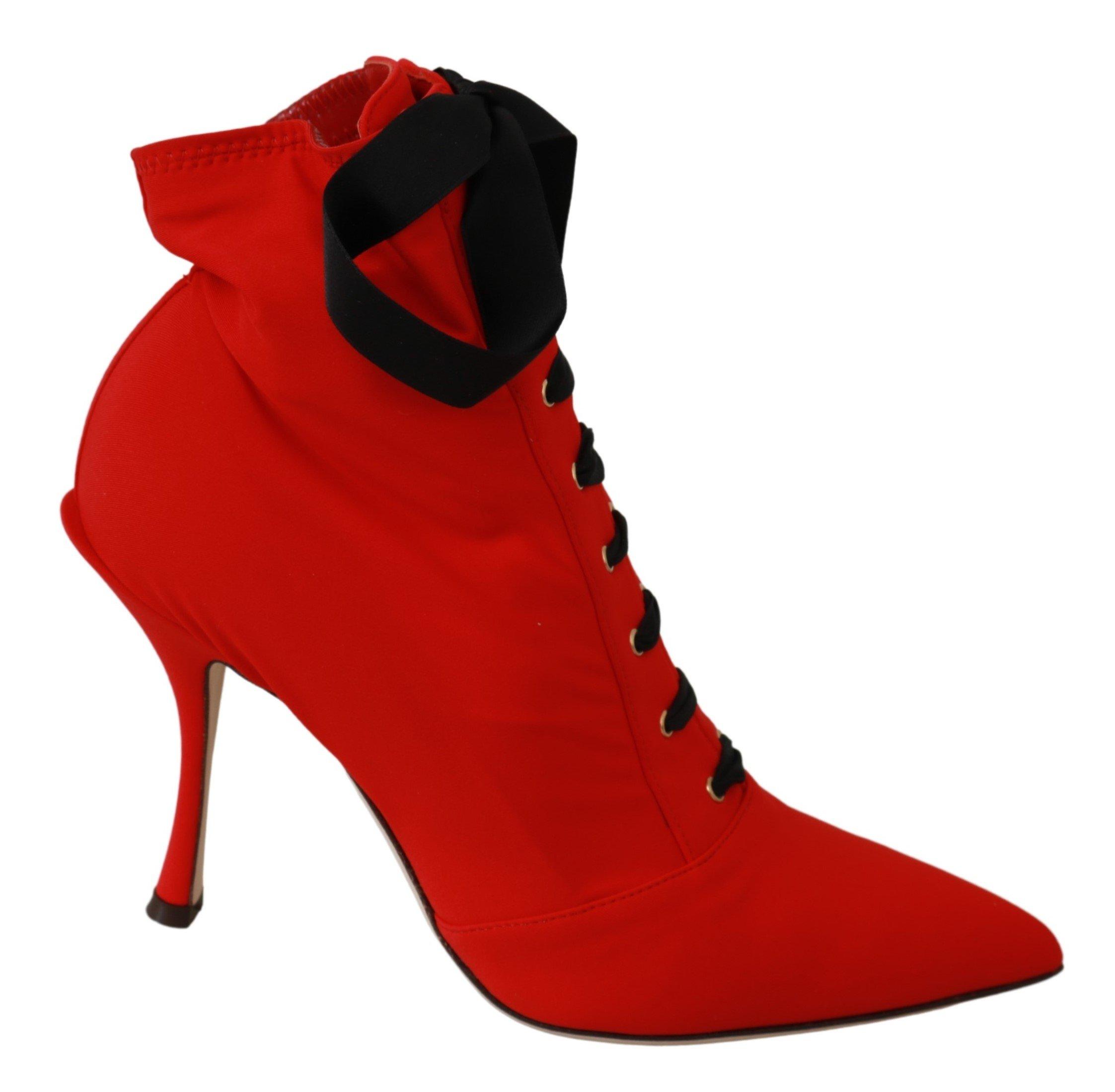 Dolce & Gabbana Women's Stretch Soft Heels Shoes Red LA6495 - EU36/US5.5