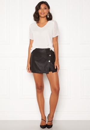 ONLY Liva Faux Leather Shorts Black 38
