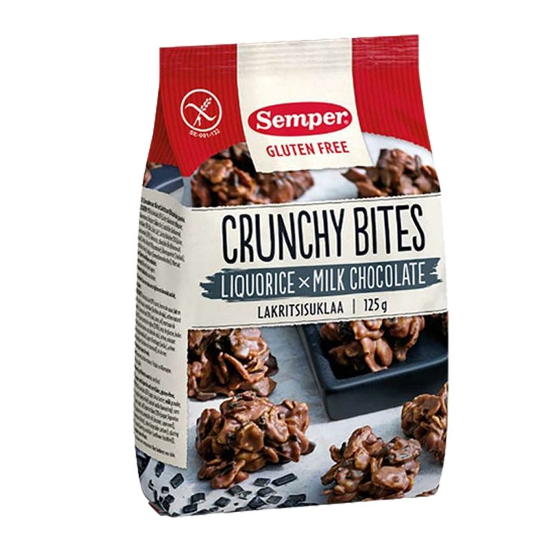 Crunchy Bites Lakritsisuklaa - 37% alennus