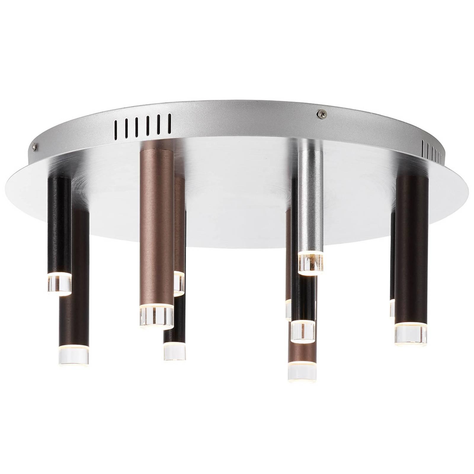 LED-kattovalo Cembalo himmennettävä 12-lamppuinen