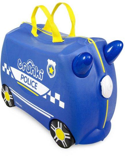 Trunki Percy The Police Car Trillekoffert 18L, Blue