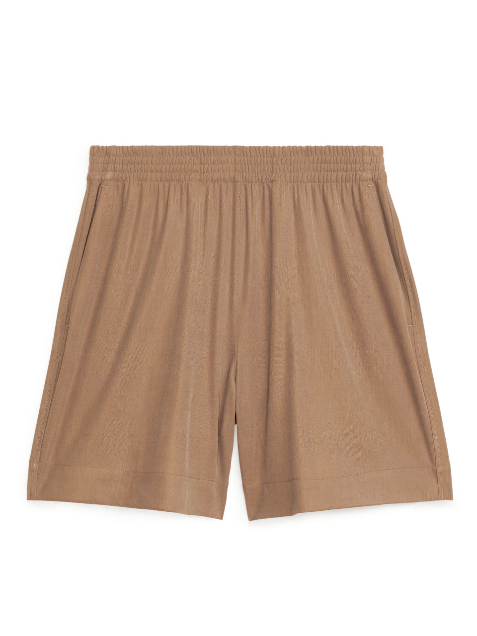 Modal Blend Jersey Shorts - Yellow