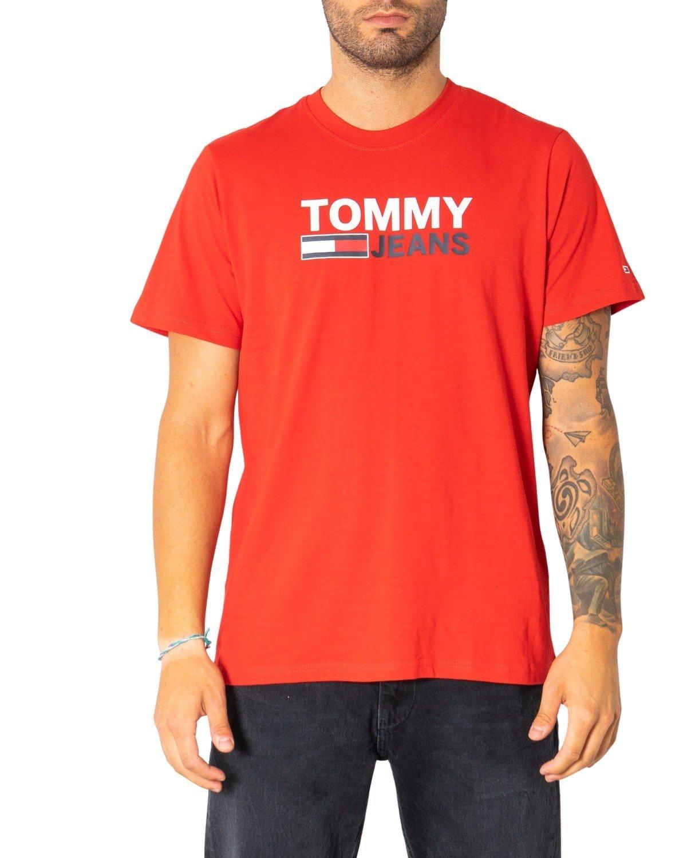 Tommy Hilfiger Jeans Men's T-Shirt Various Colours 304989 - red XS