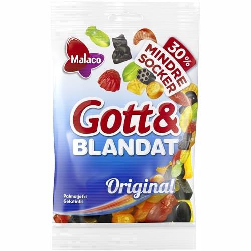 Gott och Blandat 30% mindre socker 110 gr