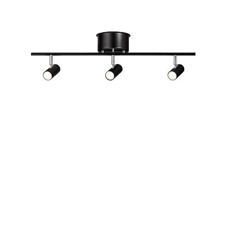 Cato Skinne Mattsvart 3-spot Dimbar LED