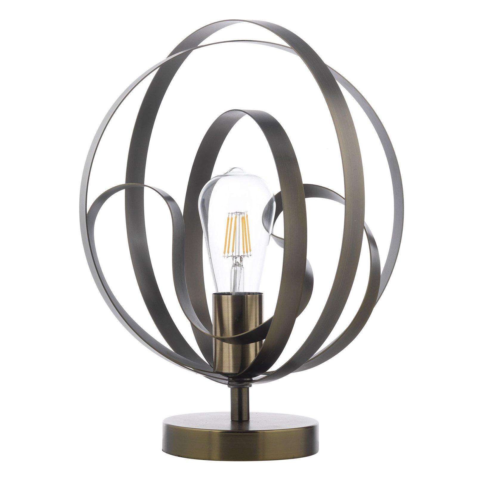 Bordlampe Yoga med metallbånd