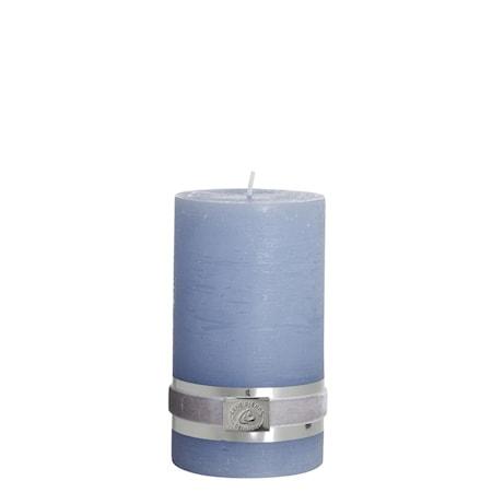 Blockljus Rustic 12,5 cm Ljusblå