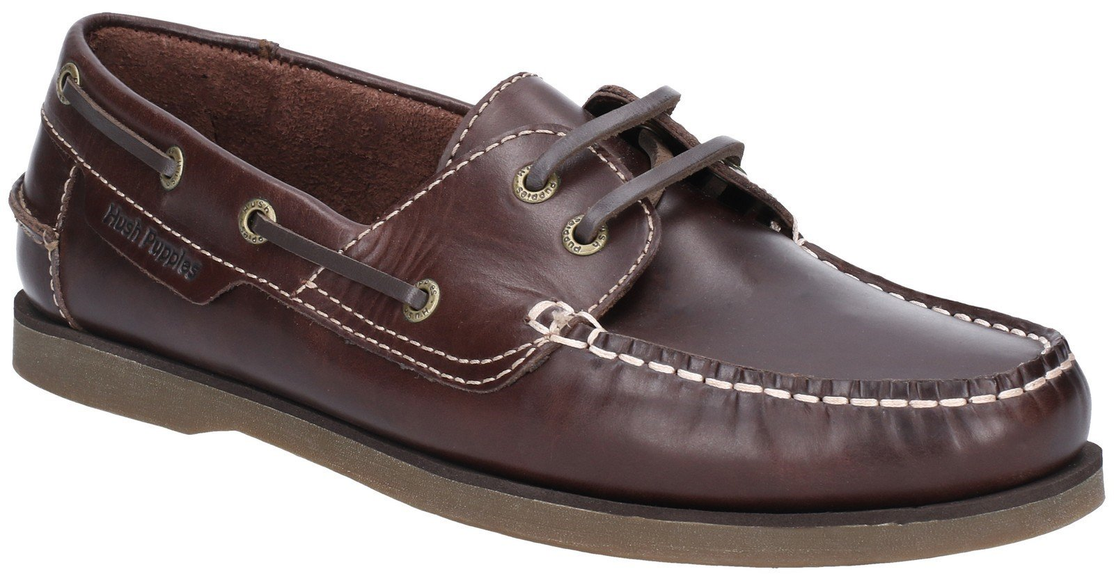 Hush Puppies Men's Henry Classic Lace Up Loafer Various Colours 28365 - Brown 6