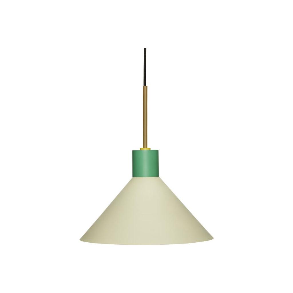 Taklampa metall grön / brun / orange Hubsch