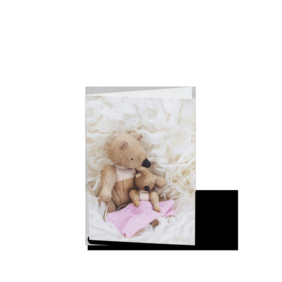 Kay Bojesen - 3 x Card A6 Baptism - Rosa