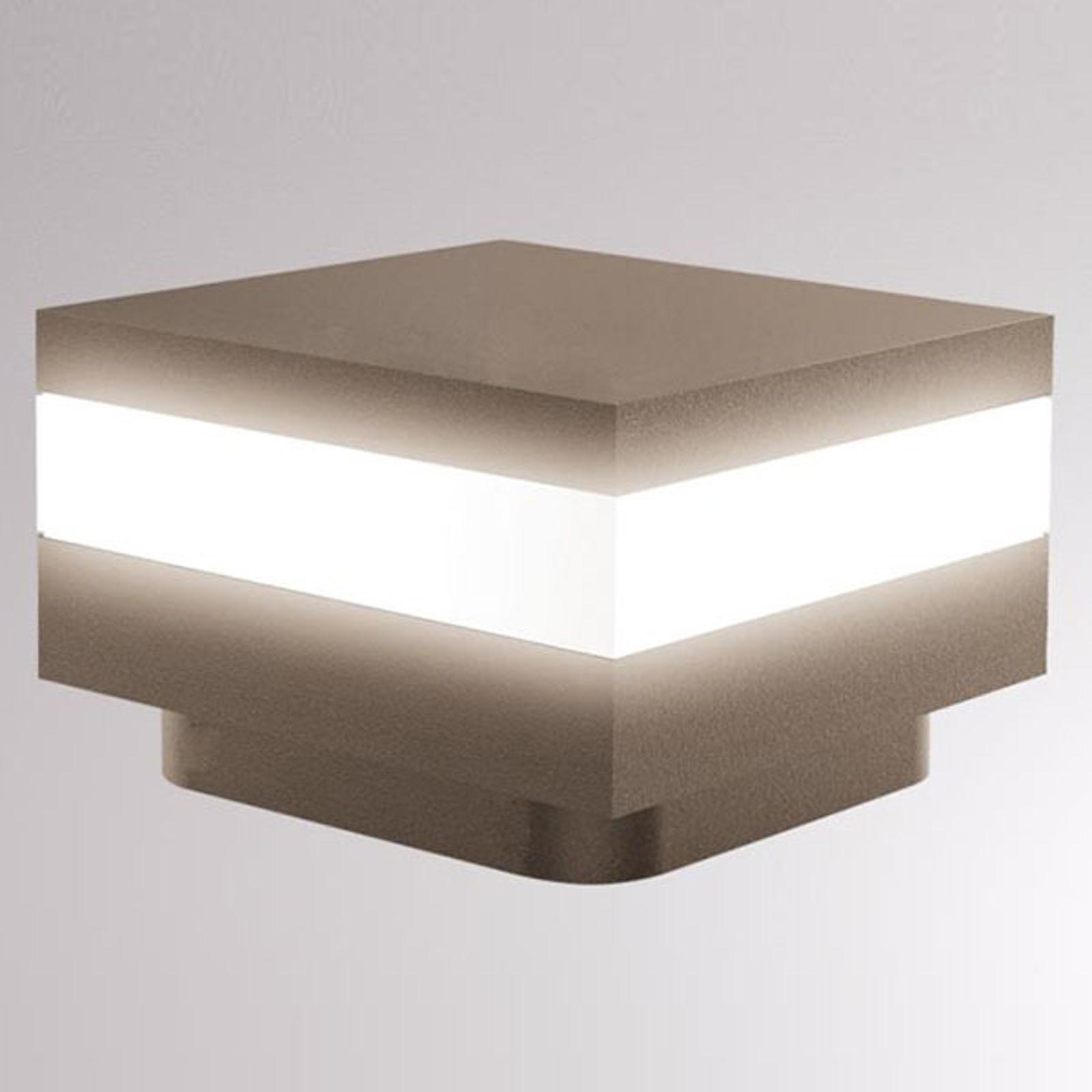 LOUM Mash -LED-pollarivalaisin, IP65, terra