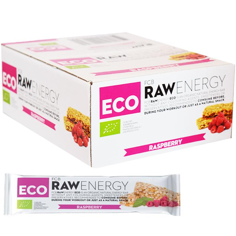 "Hel Låda Rawbars ""Raspberry"" 24 x 30g - 72% rabatt"