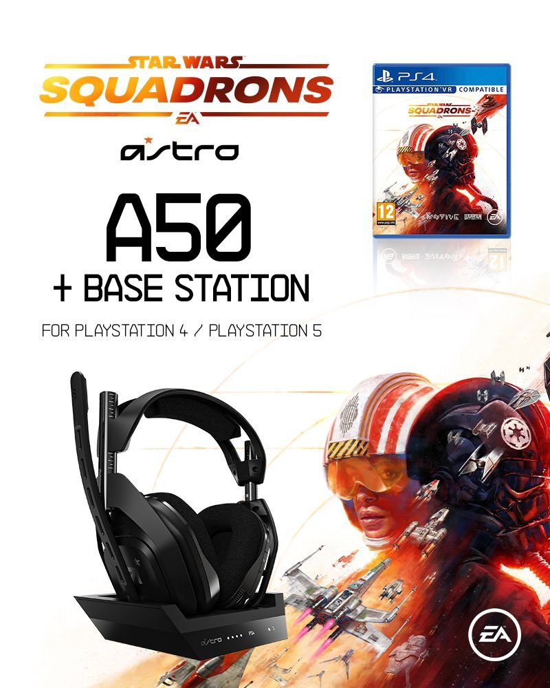 Astro A50 Wireless + Base Station for PlayStation 4/PC + Star Wars Squadrons - Bundle