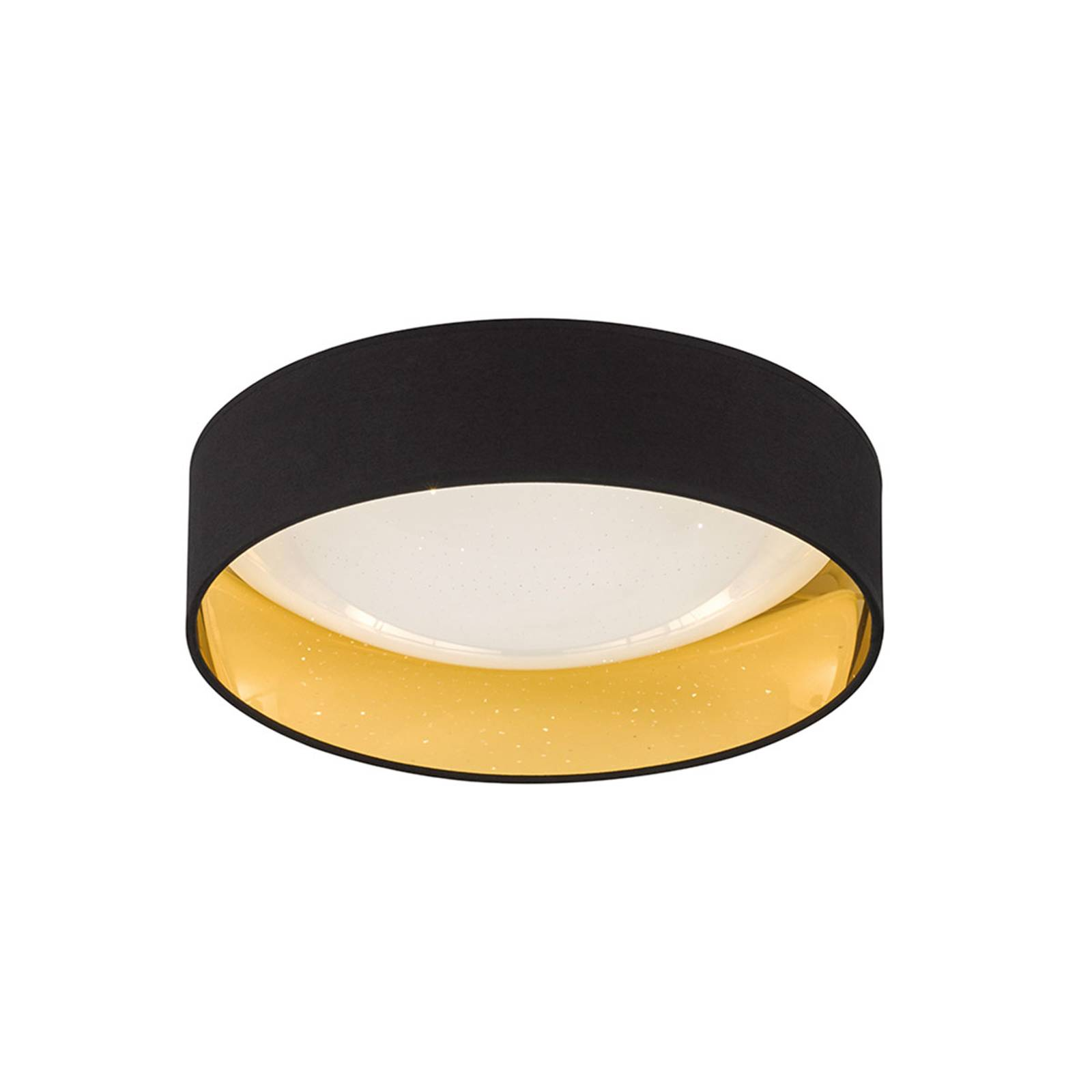 LED-kattovalaisin Sete Ø 40 cm, musta-kulta