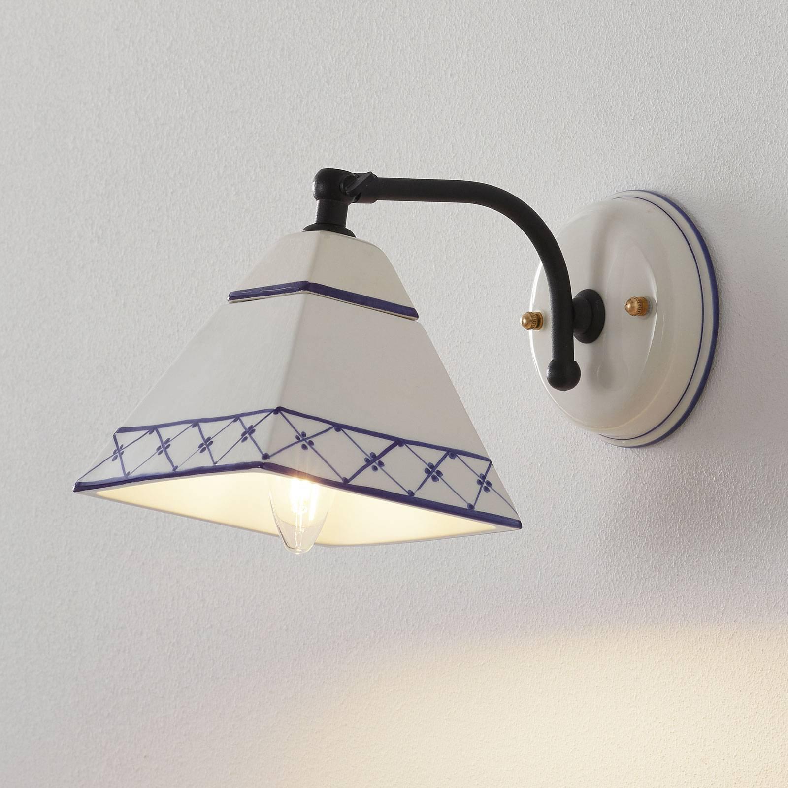 Vegglampe Murano i landstil