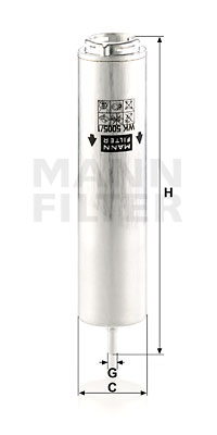 Polttoainesuodatin MANN-FILTER WK 5005/1 z