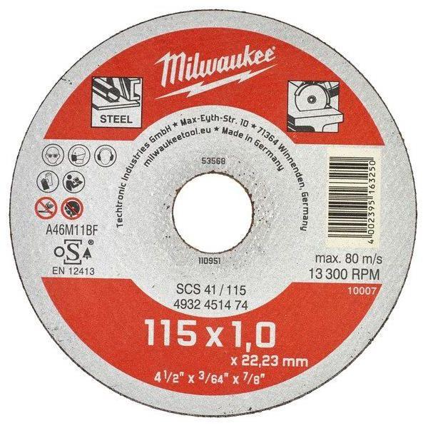 Milwaukee SCS 41 Contractor Katkaisulaikka 115x1 mm.