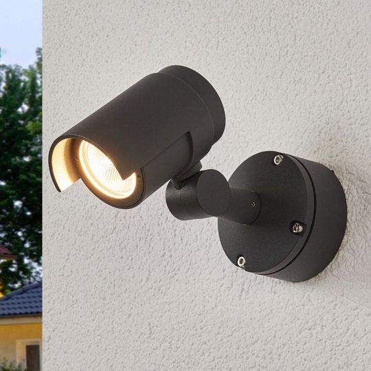Beatrix mørkegrå LED-utespotlampe
