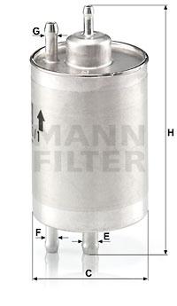 Polttoainesuodatin MANN-FILTER WK 720/1