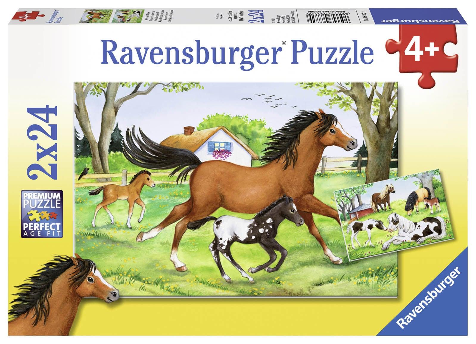 Ravensburger Pussel Hästarnas Värld 2x24 Bitar