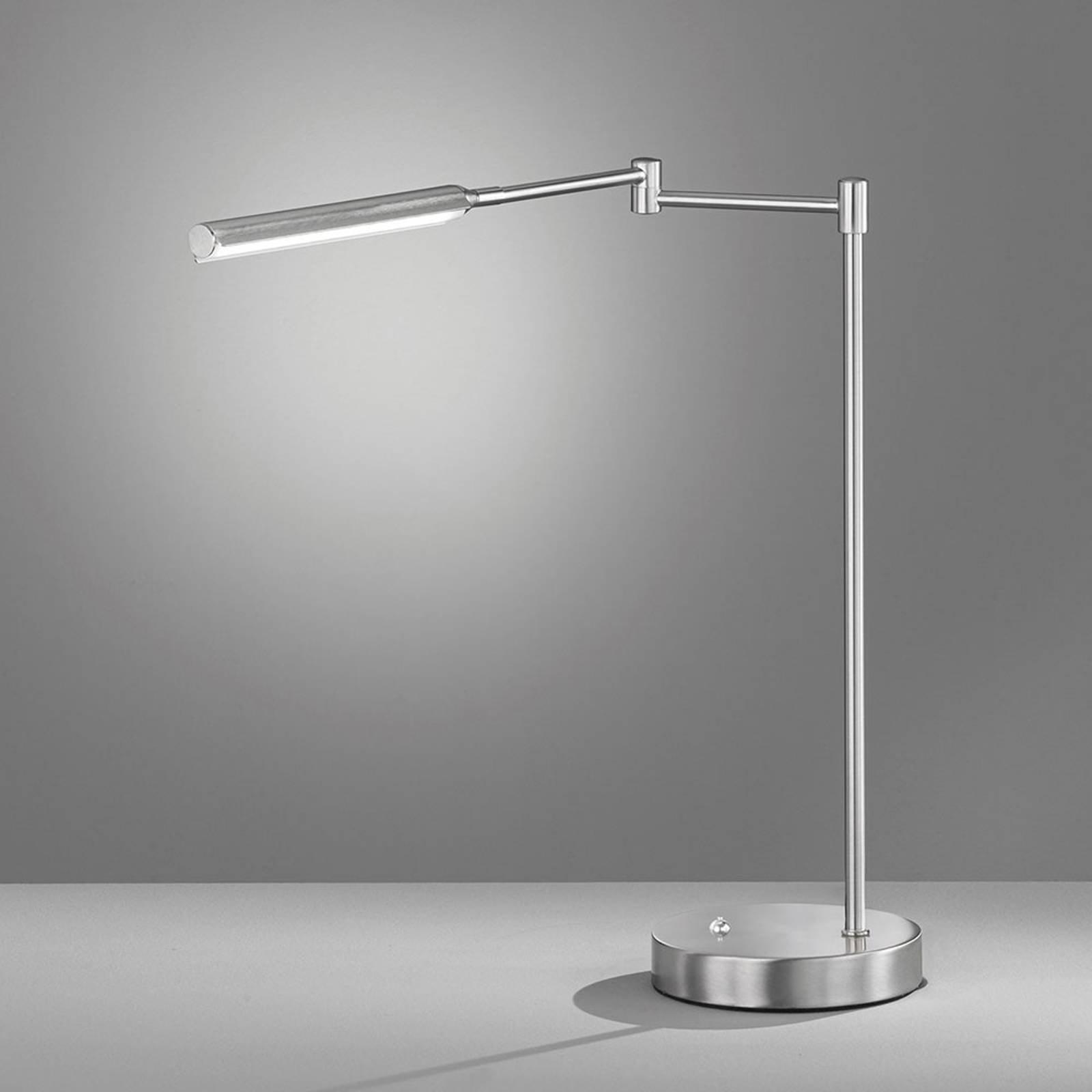 LED-bordlampe Nami, dimbar, nikkelfarget