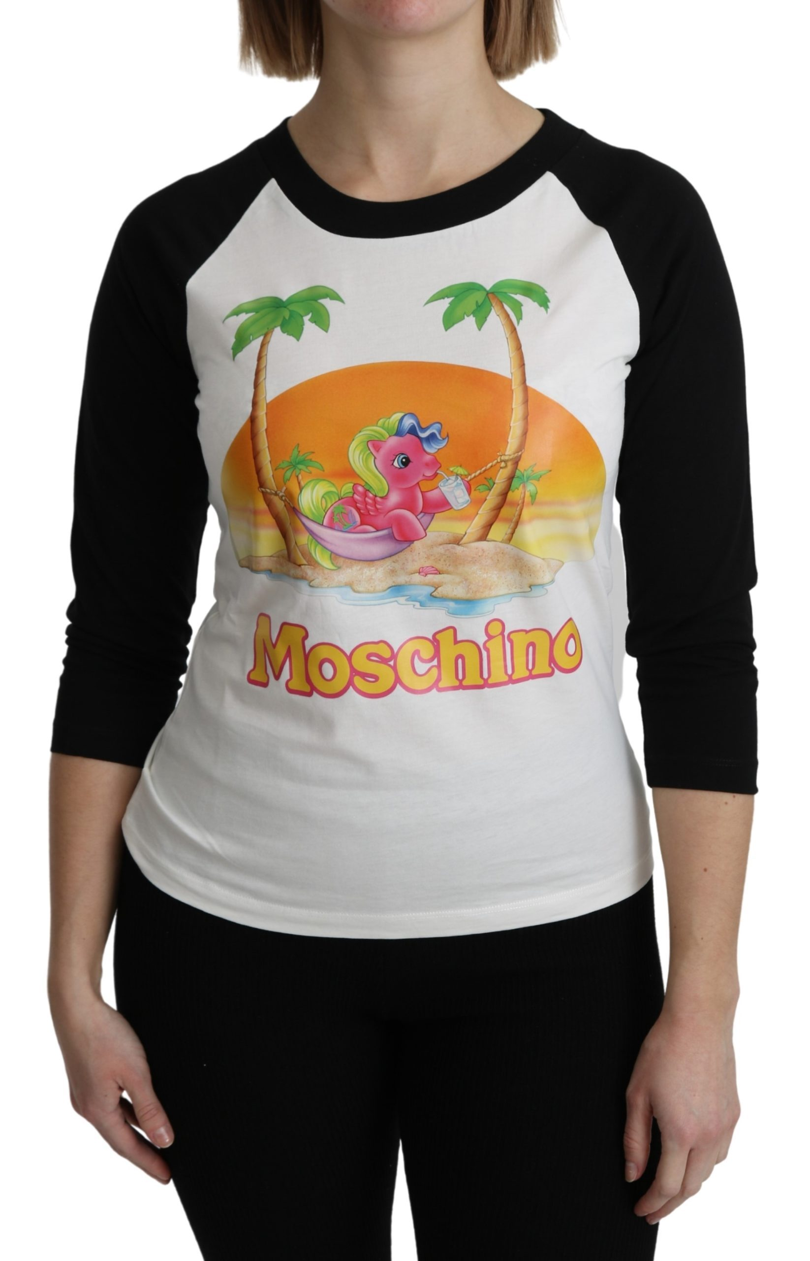 Moschino Women's Cotton My Little Pony Top White TSH5086 - IT36 | XS
