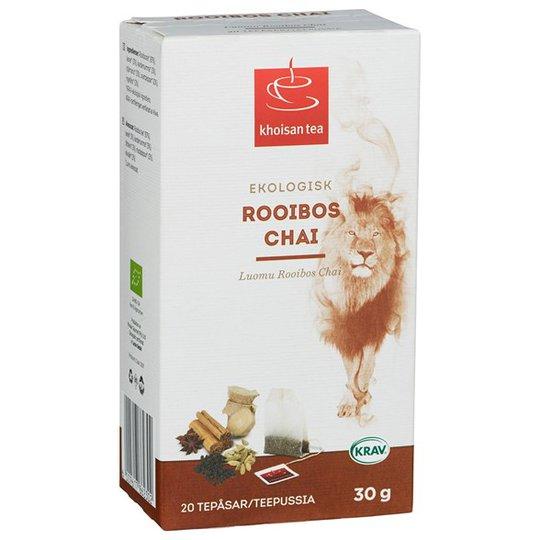 Khoisan Tea Rooibos Te Chai, 20 påsar