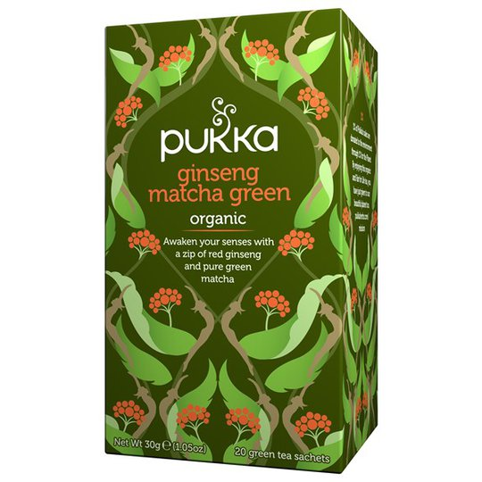 Pukka Herbs Ginseng Matcha Green, 20 påsar