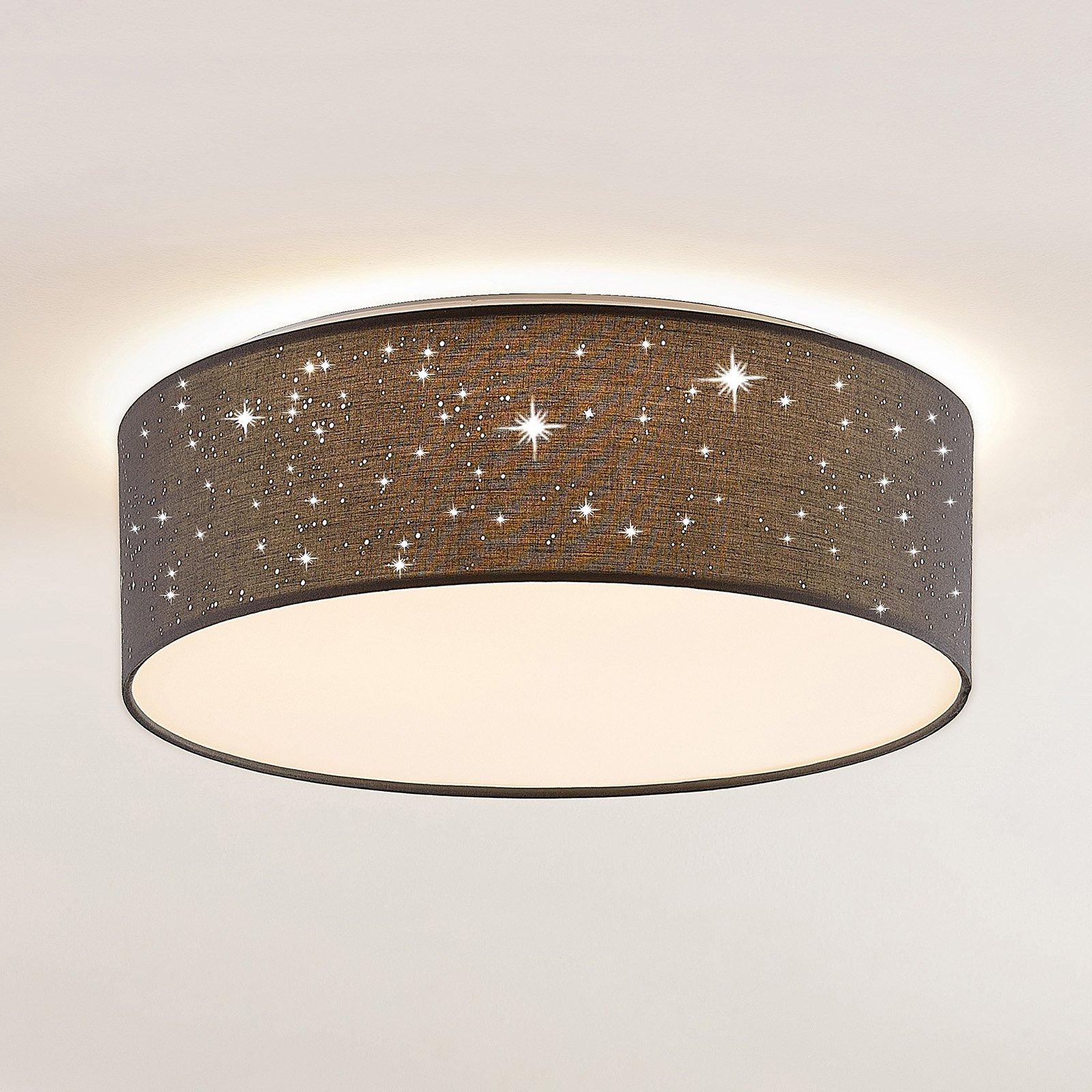 Lindby Ellamina LED-taklampe, 40 cm, mørkegrå