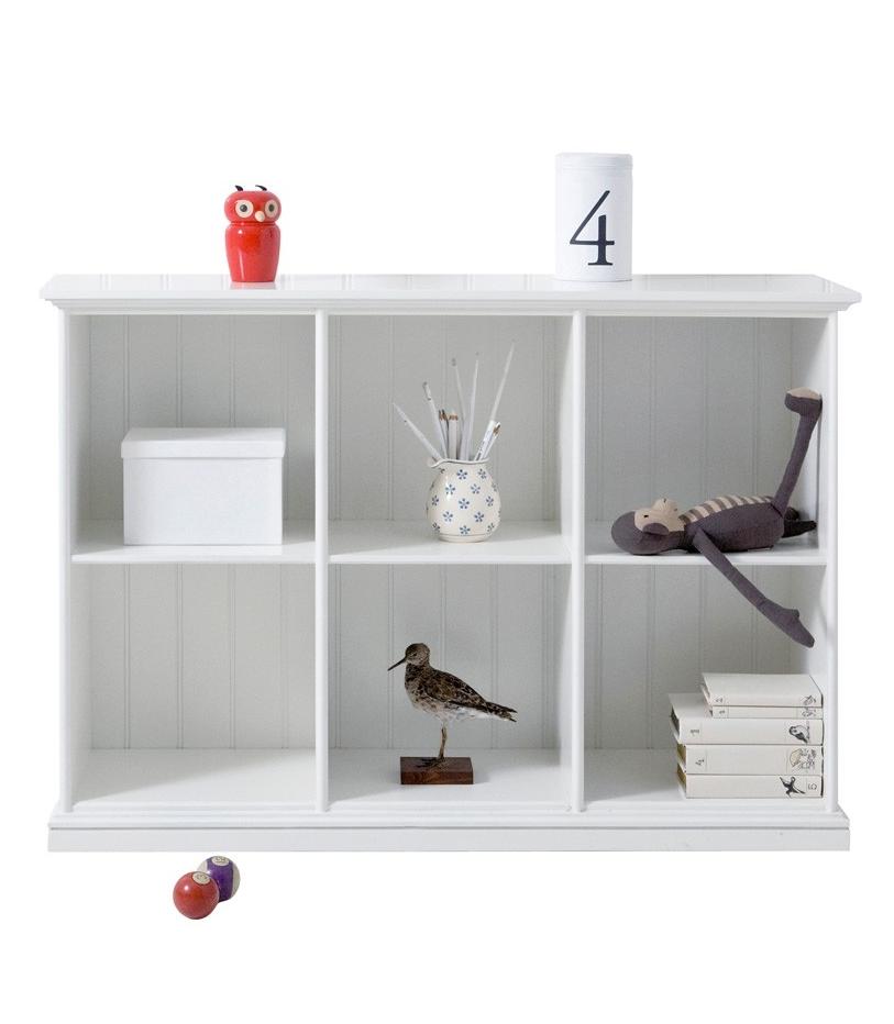 Låg hylla Seaside tre sektioner, Oliver Furniture