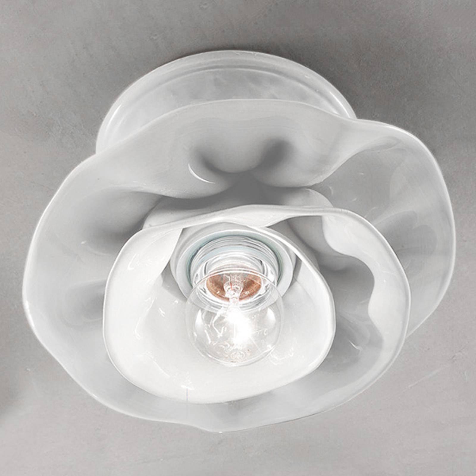 Hvit Marco taklampe i keramikk