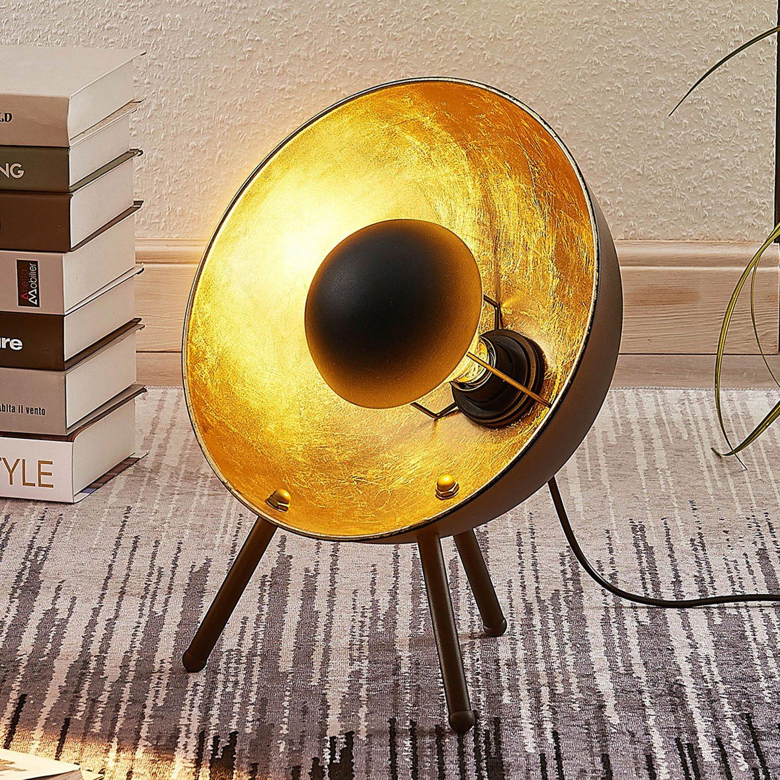 Bordlampe Muriel, 38 cm svart/gull