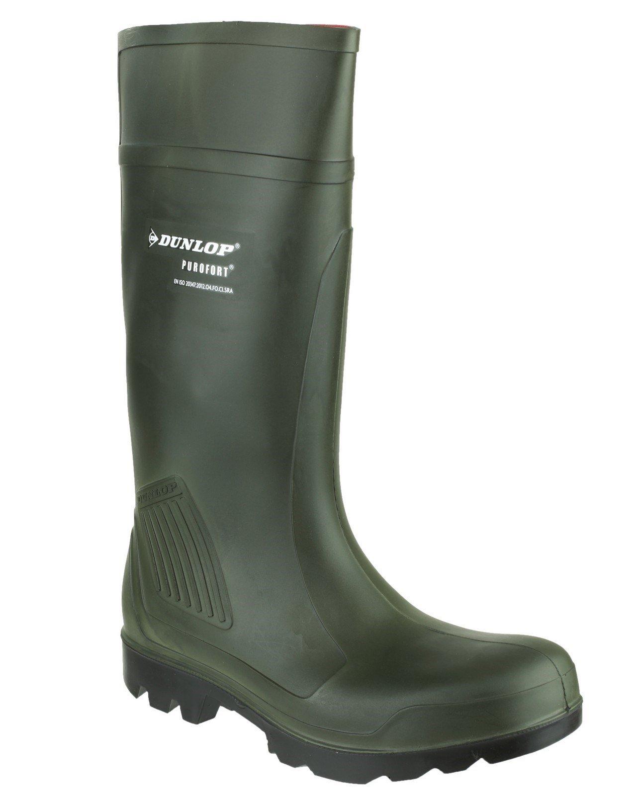 Dunlop Men's Purofort Professional Wellington Boot Green 20230 - Green 10.5